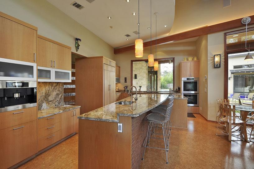 cork-floors-kitchen-westlake-residence