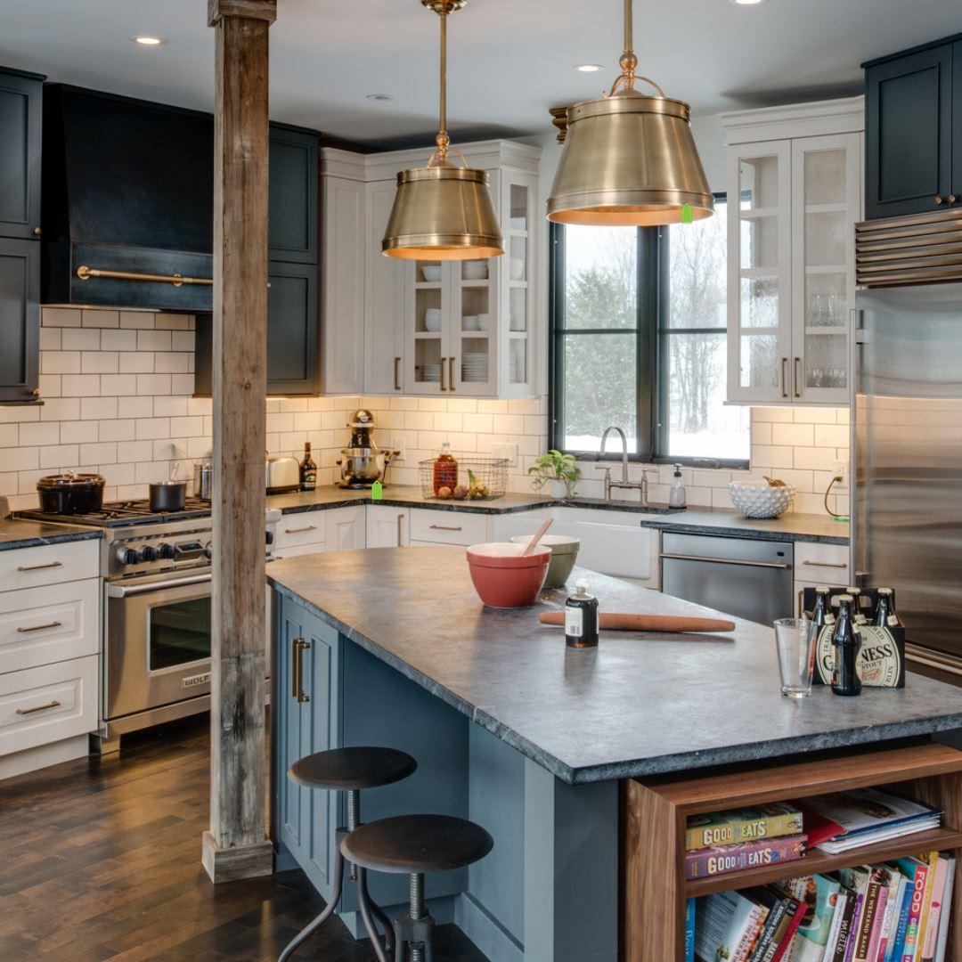 Contemporary Kitchen - soapstone countertop