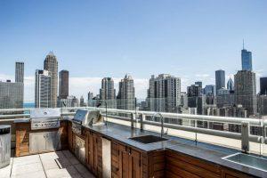 Chestnut tower rooftop outdoor kitchen